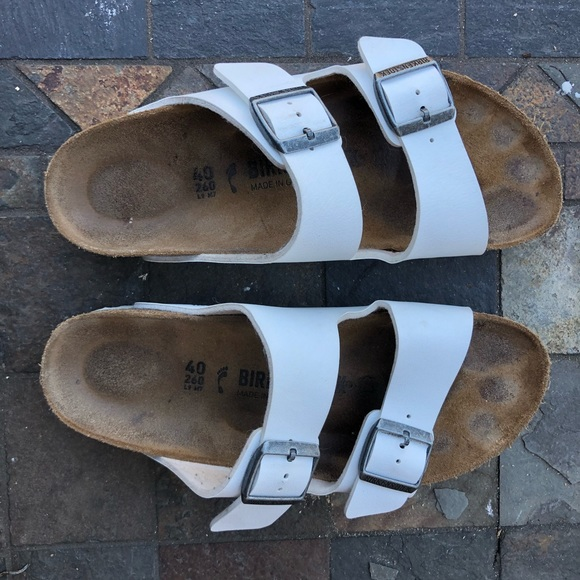 8403104724 Birkenstock Shoes - White Birkenstocks